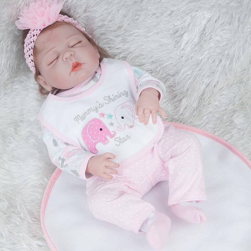Vinyle Silicone Reborn Doll Doll Doll Real Life Like looking bébé poupées cadeau de Noël 1089f7