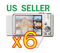 6x Sony Cybershot Dsc-h70 Camera Clear Lcd Screen Protector Guard Cover Film