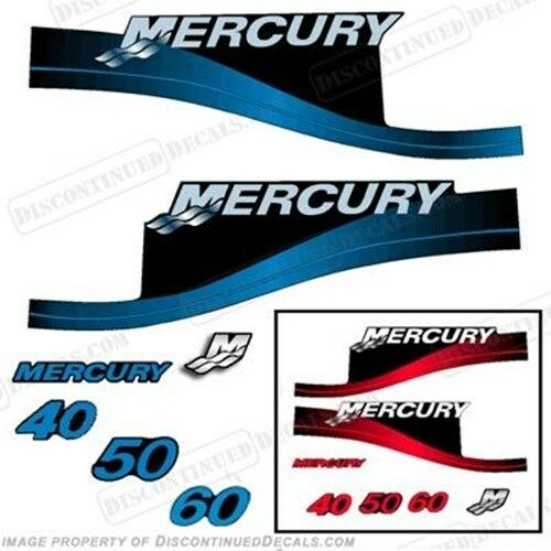 Mercury 40 50 60 hp ELPTO Outboard Decal Kit