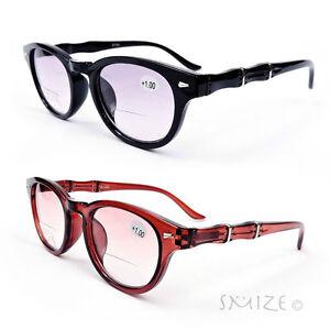 fdd6477da6 Image is loading Bifocal-Classic-Round-Frame-Reading-Glasses-Nerd-Geek-