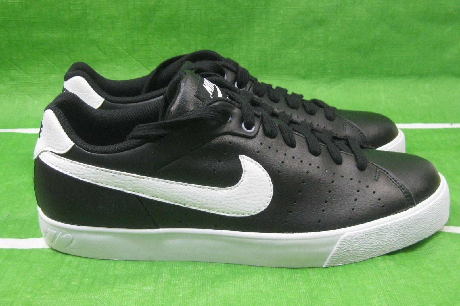 New black Nike Court Tour 458673-010 black New leather white  Size 9.5 75507d