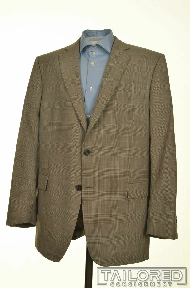 BROOKS BROTHERS Madison braun Plaid Check wolleBlazer Sport Coat jacke - 44 R