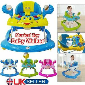 Baby Walker First Step Bouncer Push Along Mobility Toys Musical Walking Learning