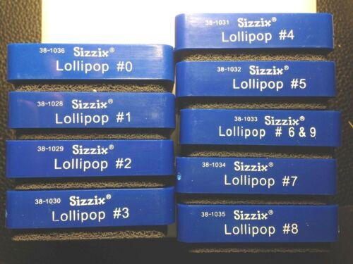 Sizzix LOLLIPOP Number Die Cut Collection Lot of 9 Blue Dies 0-9 School Crafts