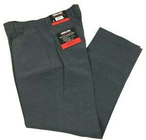 Kirkland-Signature-Men-039-s-Non-Iron-Comfort-Pant-Charcoal-Texture-34-x-32-NEW