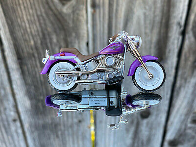 Hot Wheels Harley Davidson Fatboy Motorcycle Limited Edition Rubber Tires Ebay