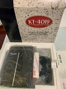Toshiba KT-4019 AM/FM Stereo Radio Cassette Player Auto Reverse New RARE Vintag