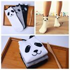 1 Pair  One Size Cartoon Animal Print Ankle-High Socks Panda Cotton
