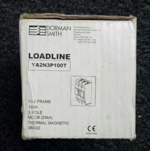 Dorman Smith loadbank 100 Amp YA2N3PT100T principal Isolateur YA2 Switch