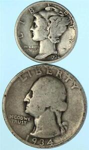 AU Almost Uncirculated 90/% Silver US Coin SP 1935 P  Mercury Dime 10c