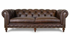 Details about Chesterfield Couch Pads Sofas Classic Leather Textile Sofa 3  Seat New - 298