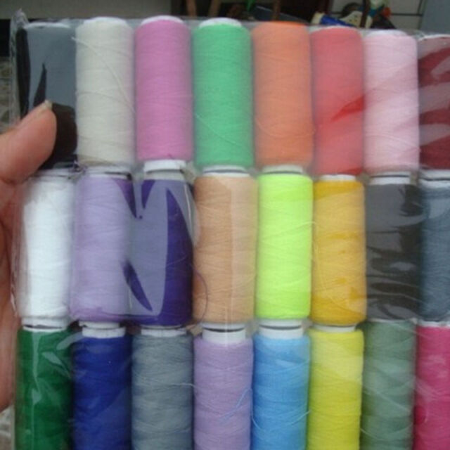 24 assorted colors cotton polyester embroidery diy sewing thread