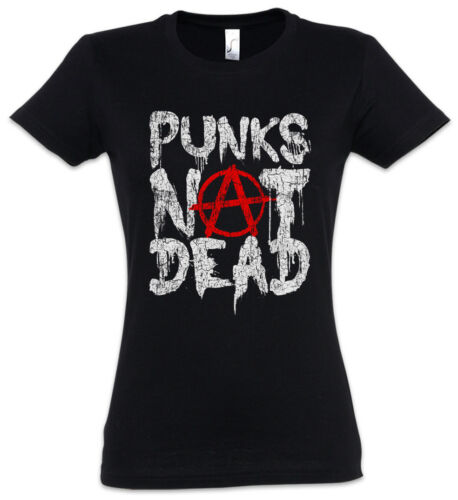 Punks Not Dead II Damen T-Shirt DJ MC Experimental Rock New Wave Synthesizer