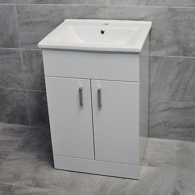 Tess 550mm Square Basin Sink Vanity Unit White or Anthracite Grey