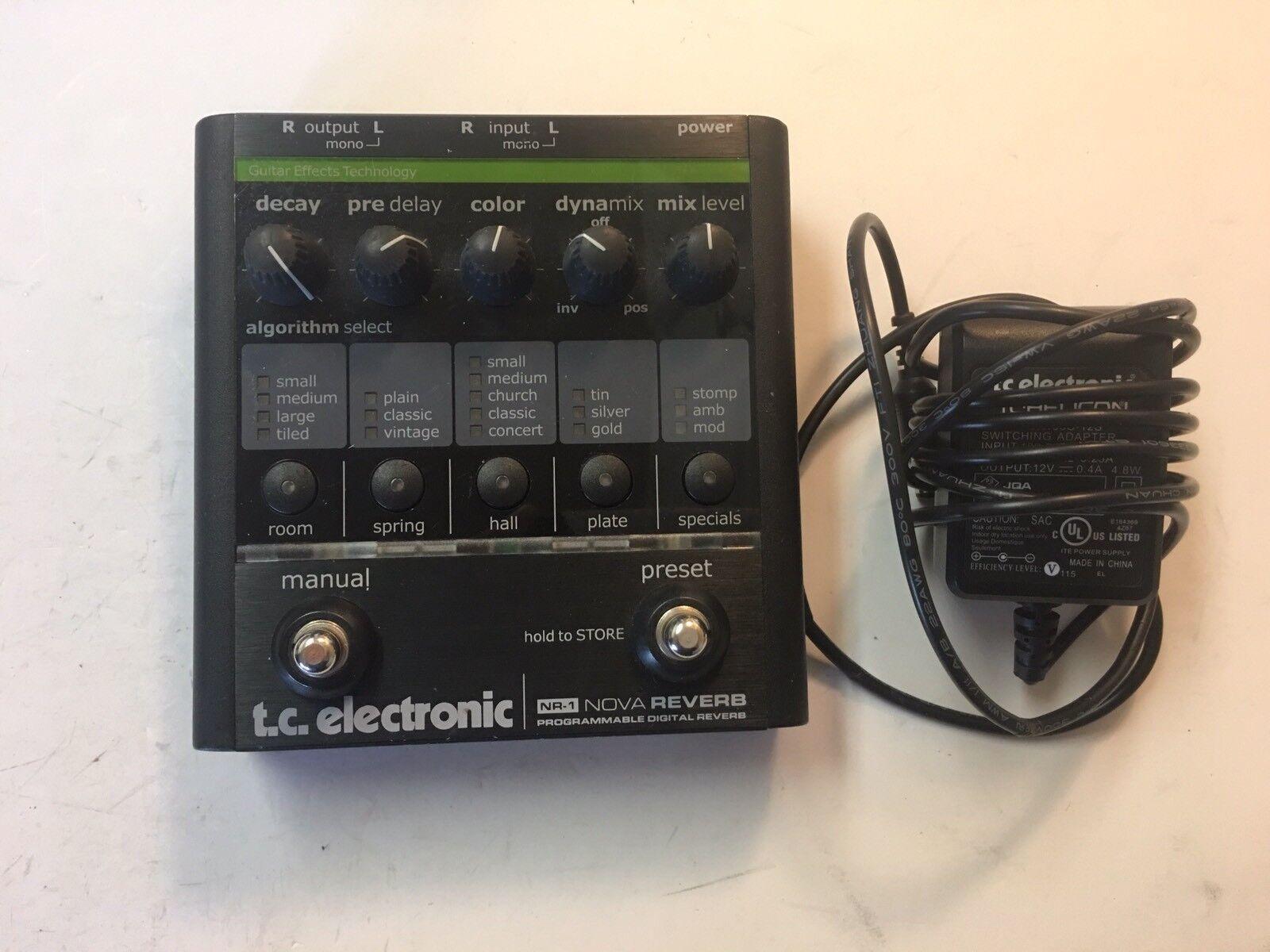 TC TC TC Electronic NR-1 Nova Reverb programables digitales Raro Efecto de Guitarra Pedal  buscando agente de ventas