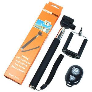 bluetooth remote shutter selfie stick extendable handheld monopod for cell ph. Black Bedroom Furniture Sets. Home Design Ideas
