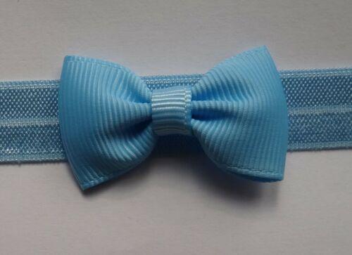 foe Single Bow Baby Headband on soft elastic different colours //sizes