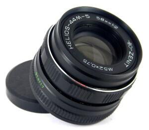 Helios-44M-5-f2-58mm-Russian-lens-mount-M42-for-Zenit-Praktica-Canon-Nikon
