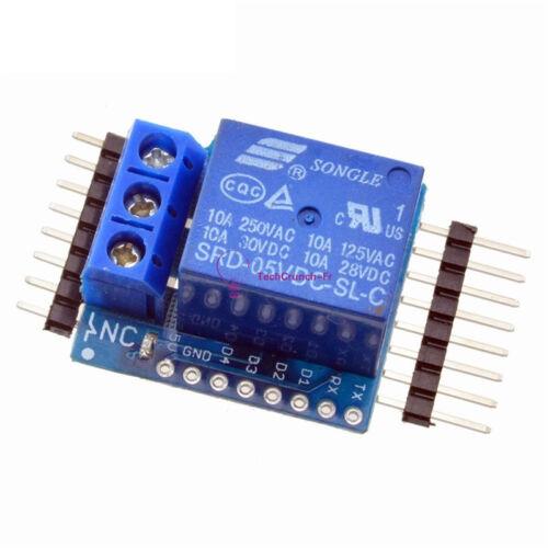 5V//12V WeMos D1 Mini Relay Shield for ESP8266 Arduino UNO R3 Development Board F