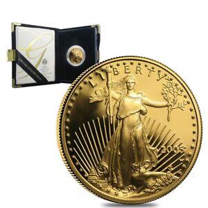 2005-W-1-2-oz-25-Proof-Gold-American-Eagle-w-Box-amp-COA