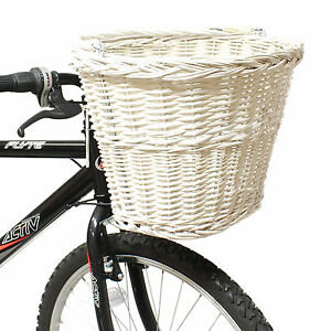 PEDALPRO-WHITE-WICKER-BICYCLE-SHOPPING-BASKET-CARRY-HANDLE-BIKE-CYCLE-HANDLEBAR