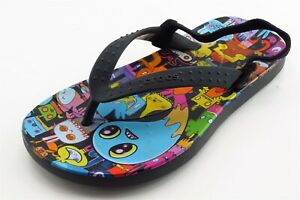 Crocs-Toddler-Sz-10-11-Medium-Multi-Color-Flip-Flops-Synthetic-Girls