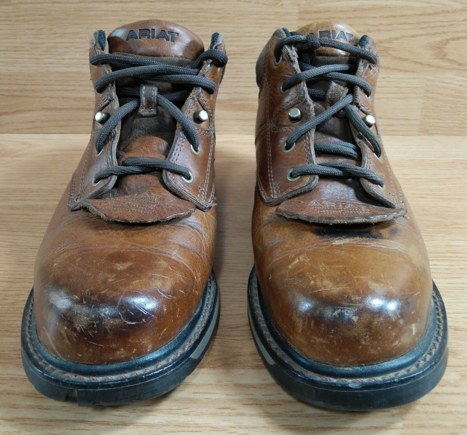 Ariat Jamison Womans Steel Toe Boot 7.5 Safety Work shoes Leather Low Top Brown
