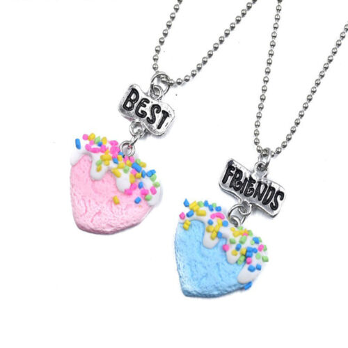 3pc BFF Best Friends Forever Charm Love Chain Pendant Necklace Various 2pc