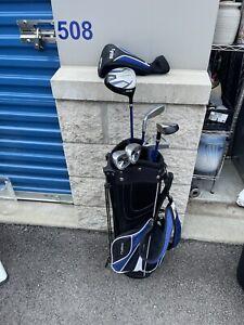 Maxfli Rev 3 Junior Golf Club Set Stand Bag RH Ages 9-12Lightweight Used