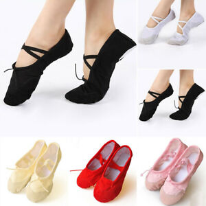 Canvas-Dance-Shoes-Girl-Child-Women-Slippers-Pointed-Pro-1-Pair-Stylish
