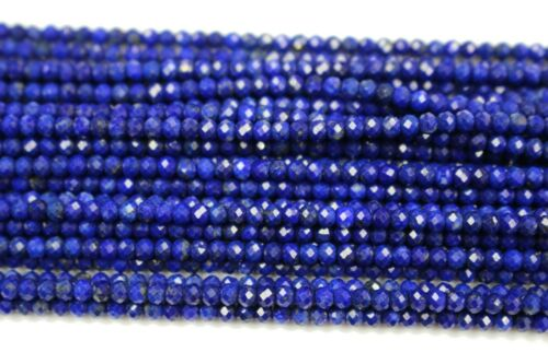 Lapis Lazuli faceted Rough rondelles Briolettes loose gemstone beads for craft