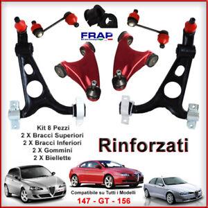 KIT-BRACCI-OSCILLANTI-TRAPEZI-INF-SUP-RINFORZATI-FRAP-ALFA-ROMEO-147-156-GT