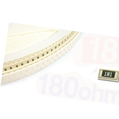 //-5/% RoHs 500 x SMD SMT 0805 Chip résistances Surface Mount 180R 180ohm 181