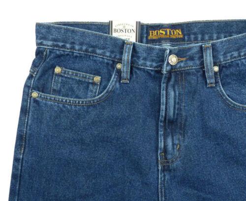 New Men/'s Boston Regular Fit Jeans Straight Leg Stonewash Blue Denim All Sizes