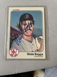 1983 Fleer Wade Boggs Auto