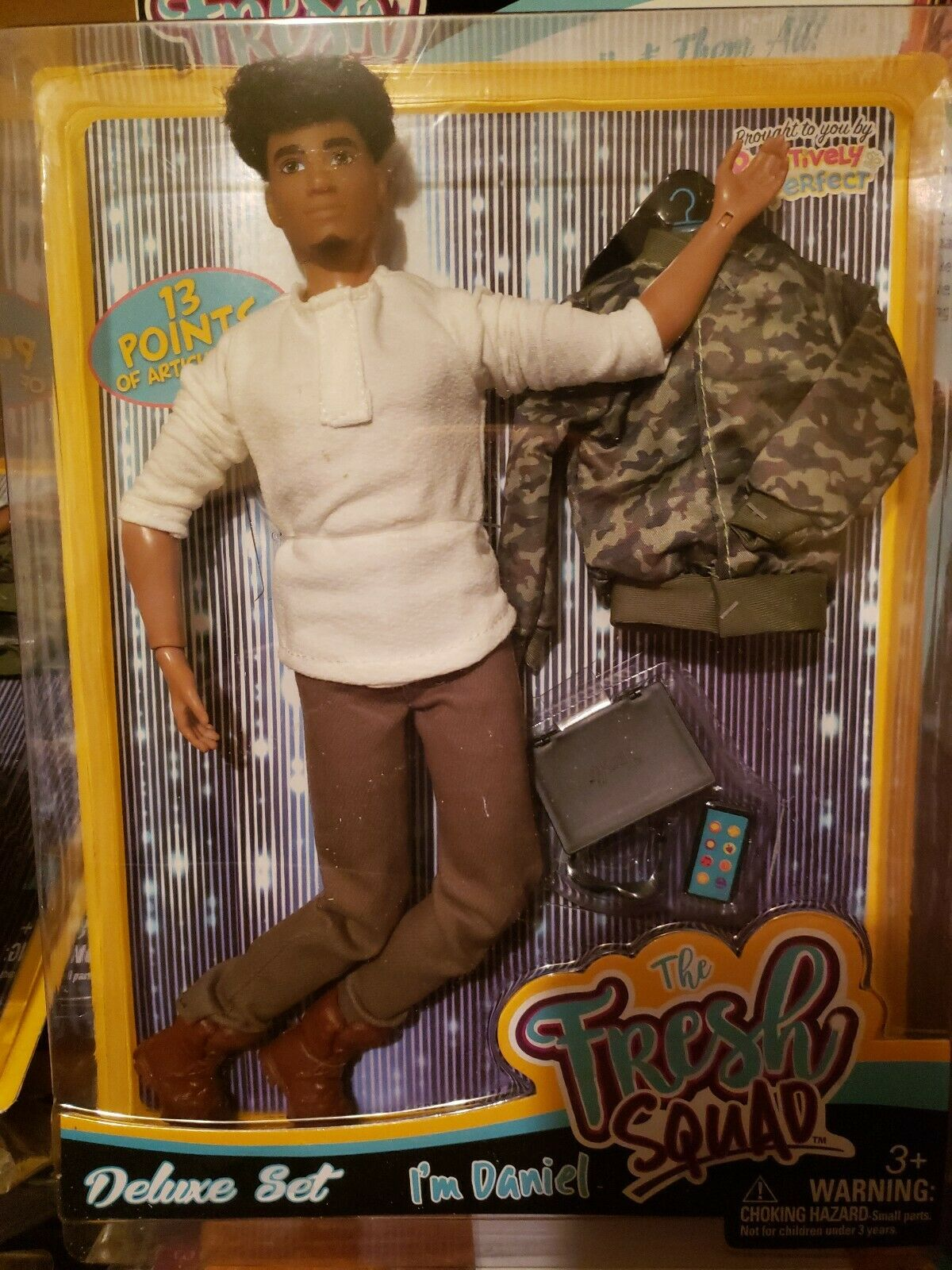 THE FRESH SQUAD DOLLS AFRICAN AMERICAN Articulated DANIEL NEW IN BOX