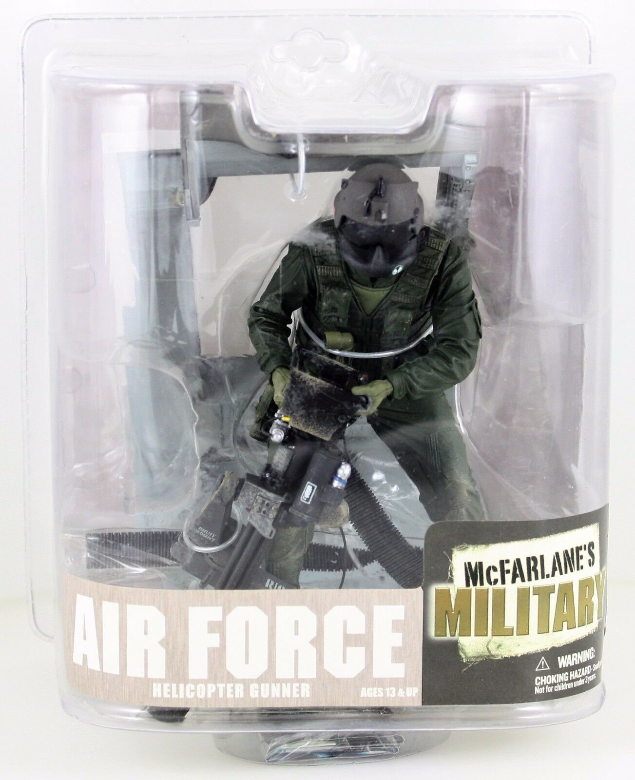Mcfarlanes Military Air Force Helicopter Gunner Action Fig.w M134 Mini Gun NEW