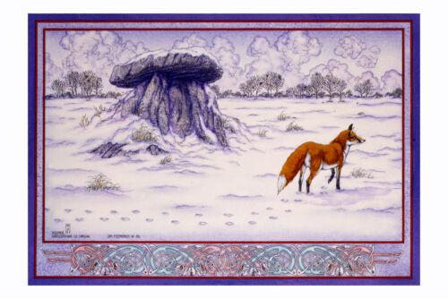 HAROLDSTOWN WINTER16x11 By Jim FitzPatrick IRISH CELTIC LANDSCAPE DOLMEN