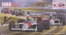 1988b McLAREN-HONDA MP4/4 BENETTON-COSWORTH F1 Cover signed JEAN-LOUIS SCHLESSER