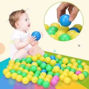 Baby-Kids-Plastic-Colorful-Play-Balls-For-Ball-Pit-Ocean-Swim-Pool-Toy-100Pcs