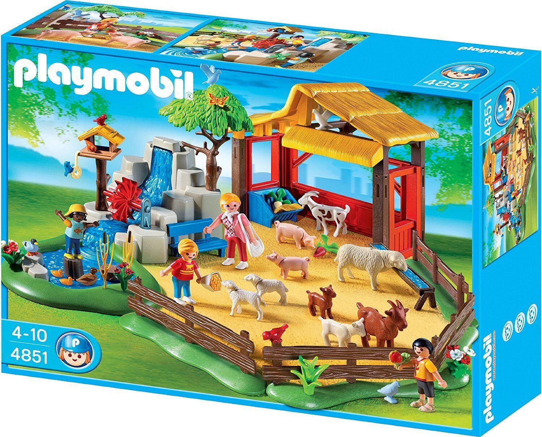 Playmobil 4851 Parc Animalier Moulin Et 22 Figurine Animaux Jeux De Construction