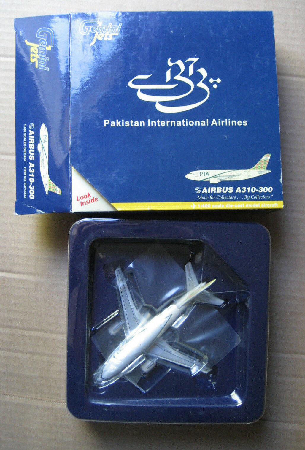 PIA Pakistan International Airlines Airbus A310-300 Gemini Jets AP-BEU model box