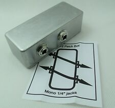 "PedalBoard Patch Bay Junction Box - 1/4"" jacks for Electric Guitar Pedal Board"