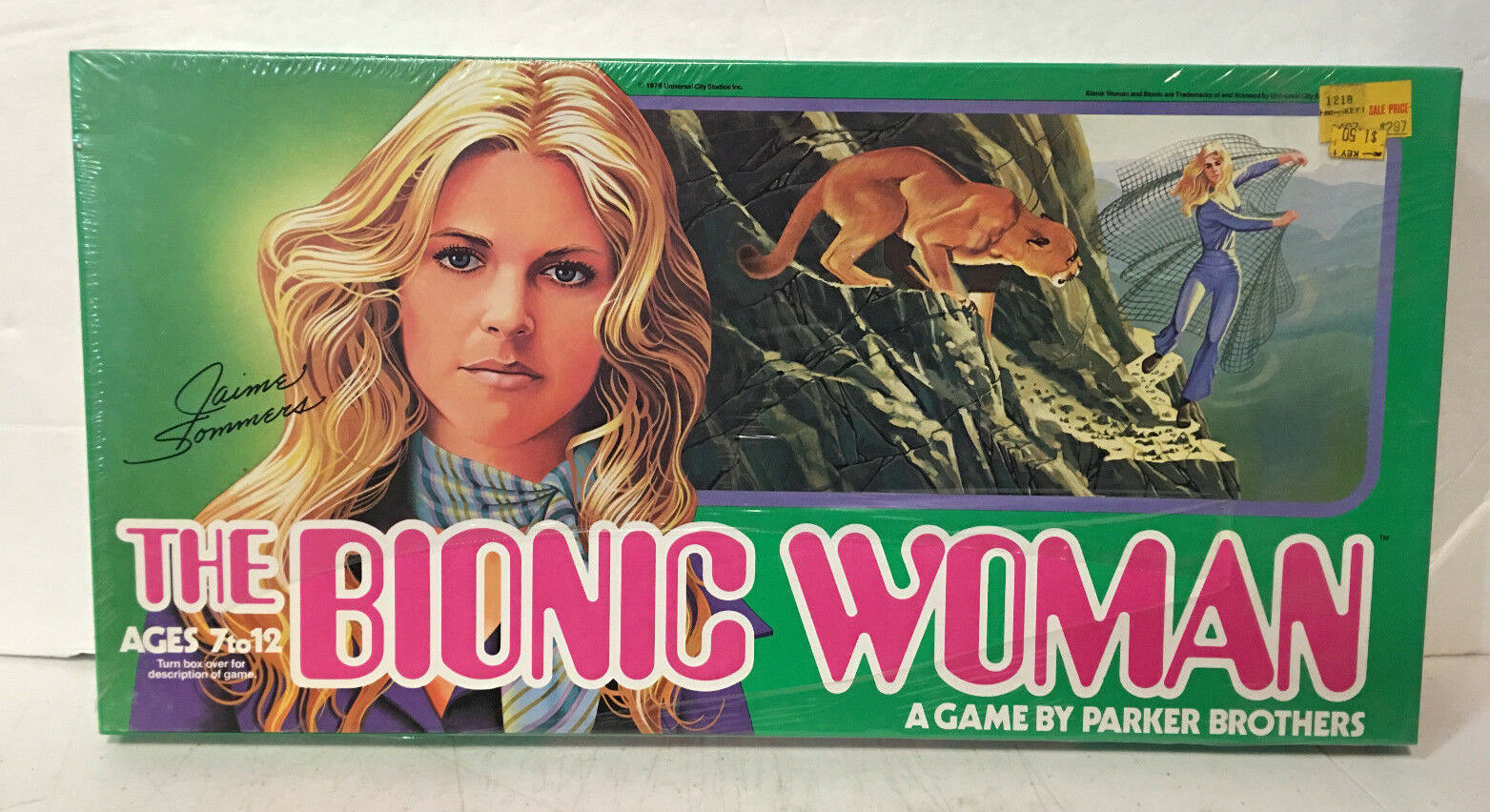 VINTAGE The Bionic Woman Board Game 1976 PARKER BrougeHERS FACTORY SEALED