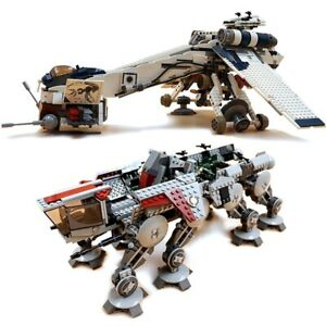 1758 Pieces Compatible Star Wars Republic Dropship with AT-OT Walker