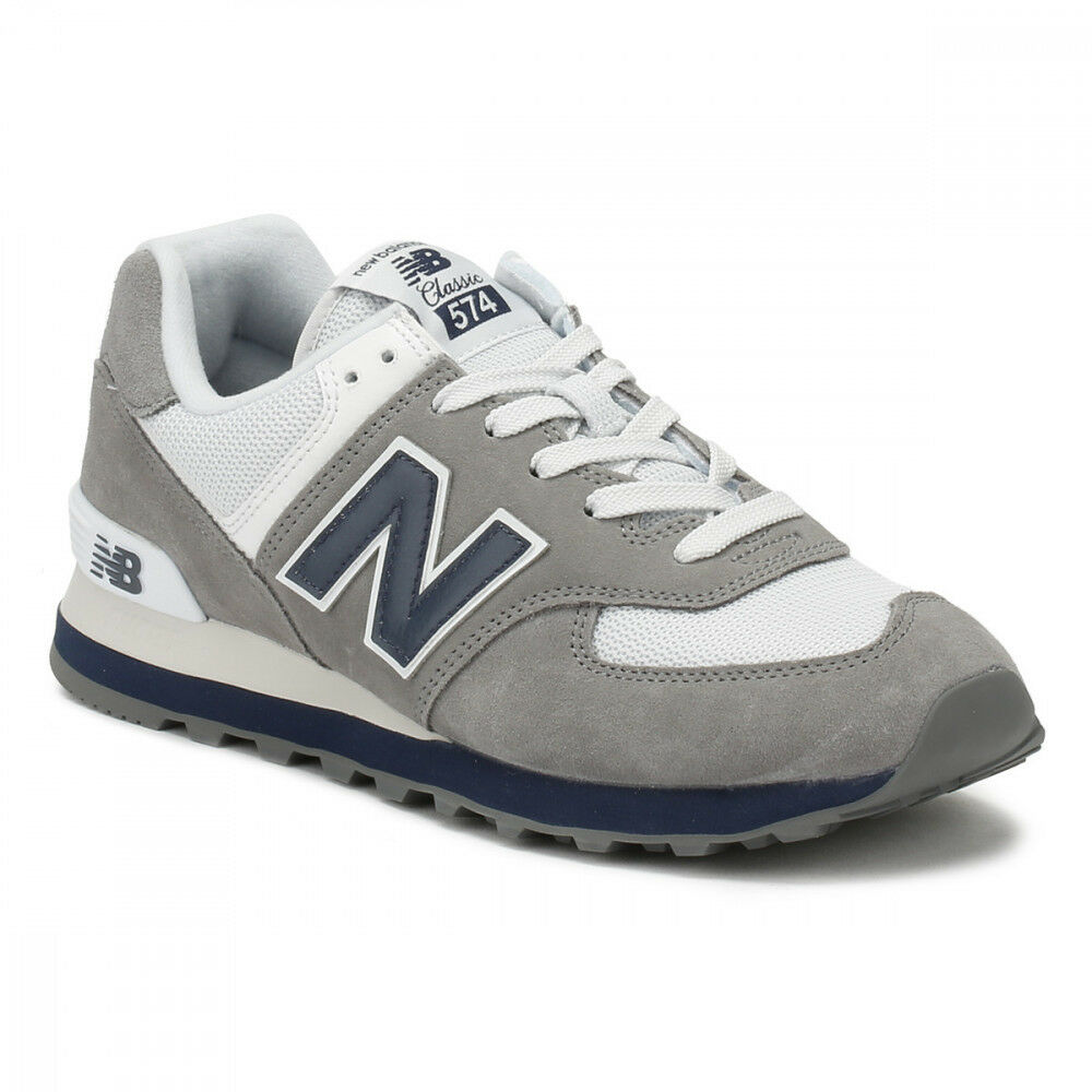 New Balance 574 Core Plus Grey bluee White ML574ESD Running Mens Size 9.5