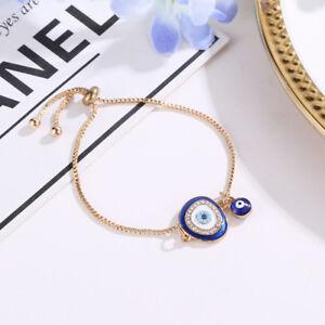 Women-Elegant-Jewelry-Lucky-Crystal-Blue-Evil-Eye-Chain-Bangle-Bracelet-Gift