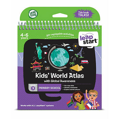 Leapfrog Leapstart Level 3. Kids' World Atlas 30+ Page Activity Book
