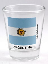 ARGENTINA FLAG SHOT GLASS SHOTGLASS