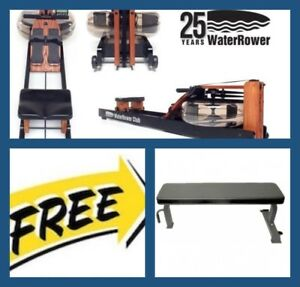 WaterRower-CLUB-Series-Water-Rower-S4-FREE-Commercial-Flat-Bench-Value-299